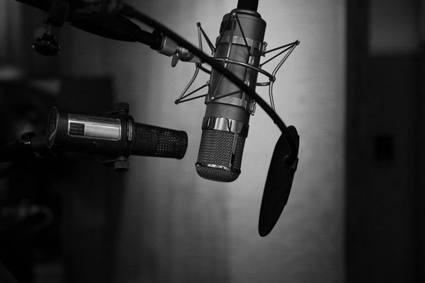 Mikrofone im Musikstudio